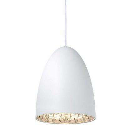 biała lampa wisząca styl nowoczesny do salonu