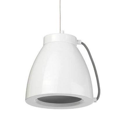 Biała metalowa lampa wisząca do kuchni styl nowoczesny