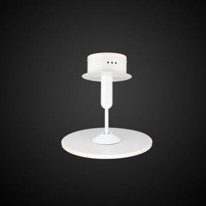 biała nieduża lampa sufitowa z płaskim kloszem