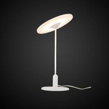 biała nowoczesna lampa stołowa led