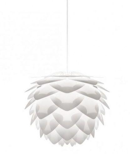 biała nowoczesna wisząca lampa szyszka umage