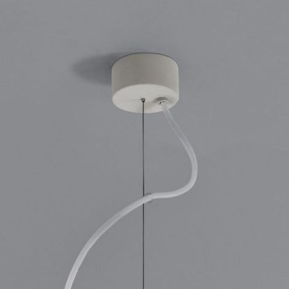 Biała podstawa lampy prostokątnej do kuchni
