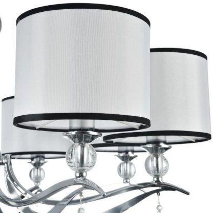 białe abażury z czarnymi obwódkami lampa terra