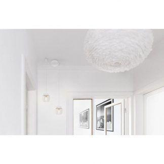 białe lampy wiszące do korytarza do dekoracji