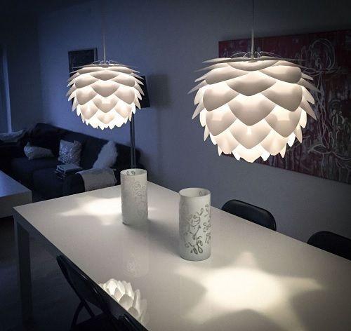lampy do bialego salonu