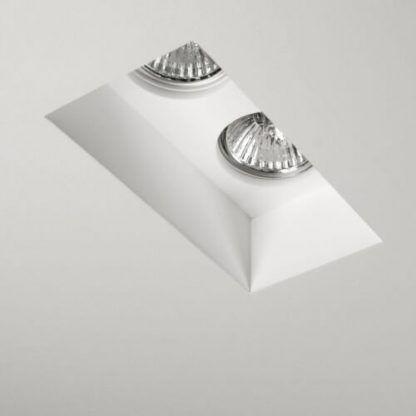 białe nowoczesne oczko podwójne sufitowe