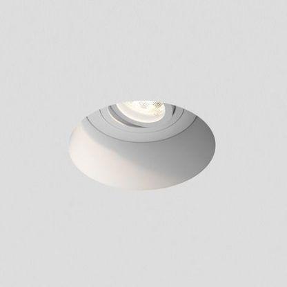 białe nowoczesne oczko sufitowe wpuszczane 5 cm