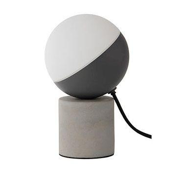 Biało czarna lampa stołowa Fabian - ciekawy styl