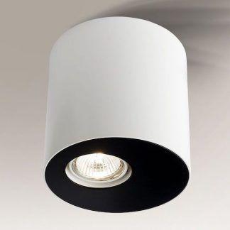biało czarna szeroka tuba do salonu