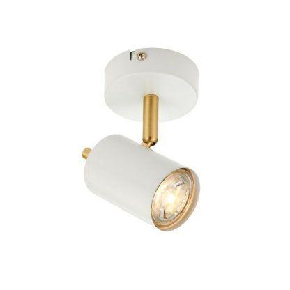 biało złoty reflektorek do salonu w stylu modern classic