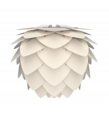 Biały abażur - szyszka do lamp wiszących kinkietów
