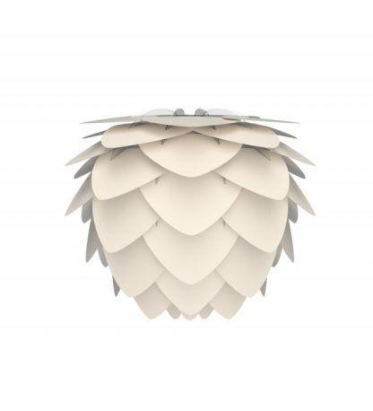 Biały abażur w kształcie szyszki