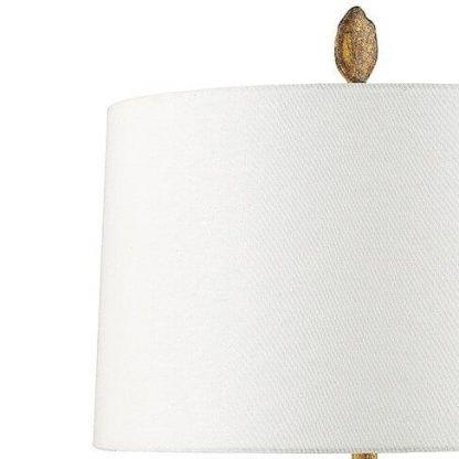 Biały fakturowany abażur lampy do sypialni