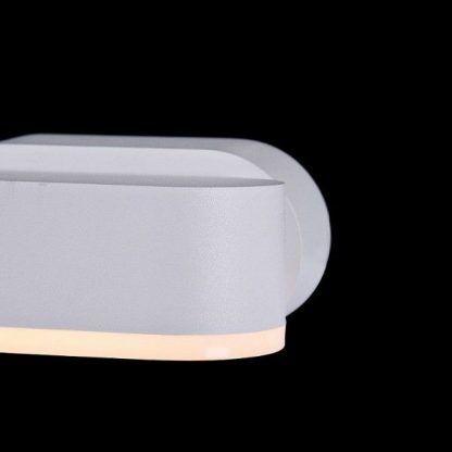 biały kinkiet LED - nowoczesny design do sypialni