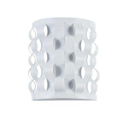 biały kinkiet origami z tworzywa do salonu