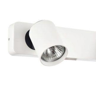 biały kinkiet z małym reflektorkiem