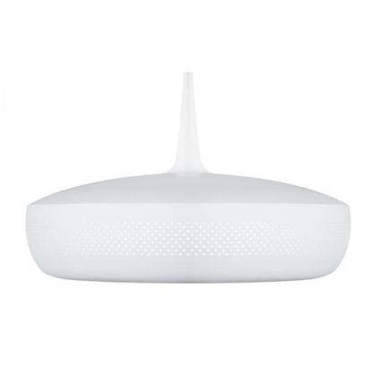 biały klosz lampy clawa - wisząca i piękna