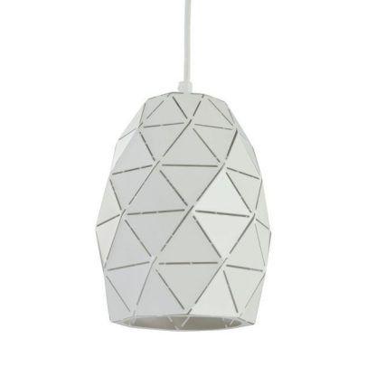 Biały klosz lampy wiszącej Louvre - trójkąciki