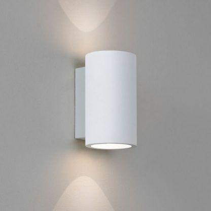 biały nowoczesny kinkiet tuba pionowe światło