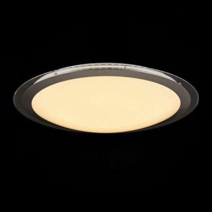biały plafon w okrągłej oprawie do kuchni