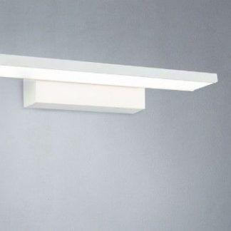 biały podłużny kinkiet do łazienki nowoczesny