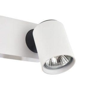 biały reflektorek na ścianę do pokoju dziecka