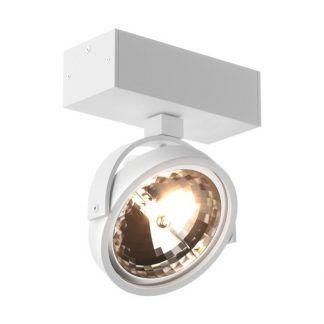 biały regulowany reflektor sufitowy