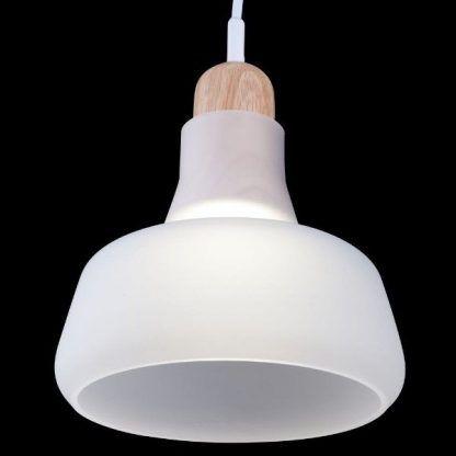 Biały szklany klosz lampy okrągły kształt