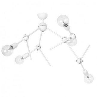 biały żyrandol molekularny nowoczesny