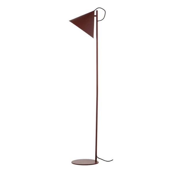 lampy stojące podłogowe bordowy klosz