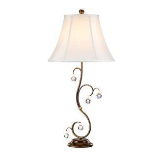 Brązowa dekoracyjna podstawa lampy z abażurem