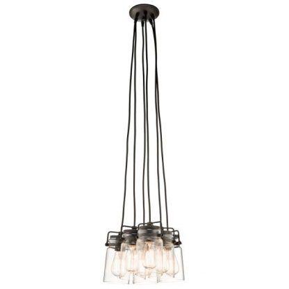 brązowa industrialna lampa wisząca do kuchni