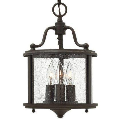 brązowa klasyczna lampa wisząca na taras