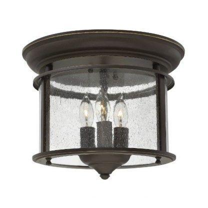 brązowa lampa sufitowa na taras do przedpokoju