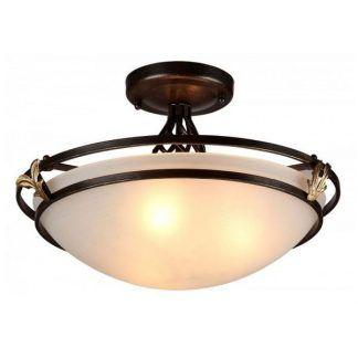 brązowa lampa sufitowa w stylu klasycznym