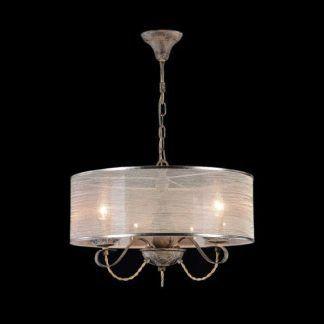 brązowa lampa wisząca do jadalni vintage