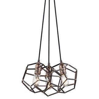 brązowa lampa wisząca industrialna druciaki