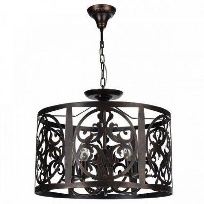 brązowa lampa wiszaca stalowa - klasyczny postarzany wygląd