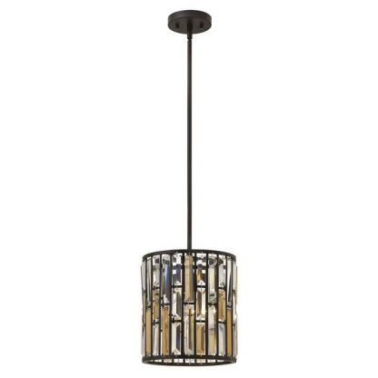 brązowa lampa wisząca z kryształków do kuchni
