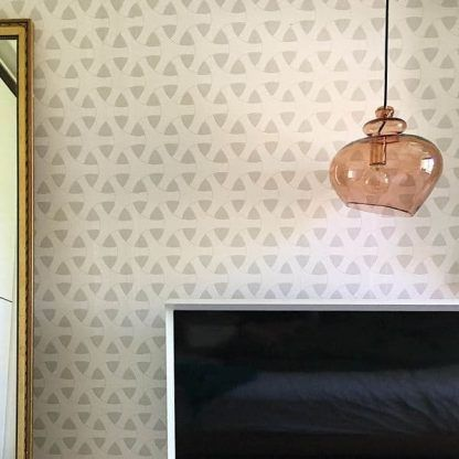 brązowa szklana lampa wisząca do sypialni retro