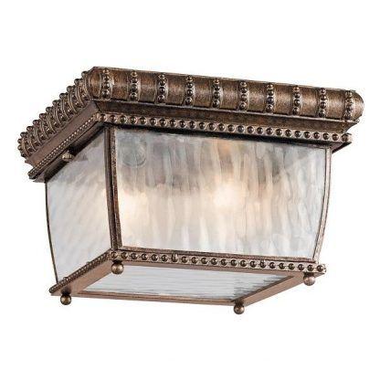 brązowy antyczny plafon klasyczny do przedsionka