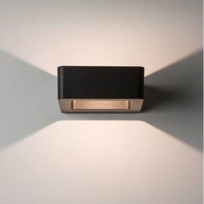 brązowy kinkiet kwadratowy nowoczesny - korytarz i schody
