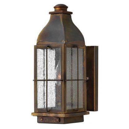 Brązowy kinkiet zewnętrzny kształt lampionu