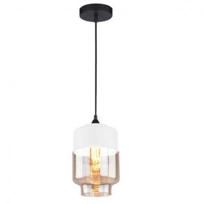 bursztynowa lampa wisząca do salonu