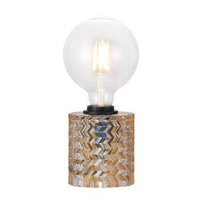 Bursztynowa szklana podstawa lampy do salonu