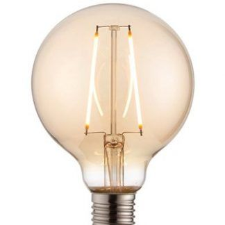 bursztynowa żarówka ozdobna do lampy wiszącej - duża