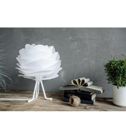carmina biały trójnóg stołowy mała lampa