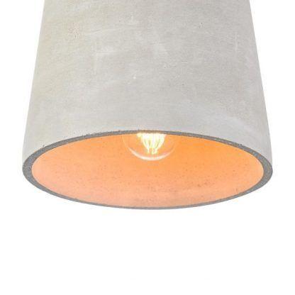 cementowa lampa wisząca nowoczesna