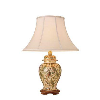 ceramiczna lampa stołowa z abażurem luksusowa