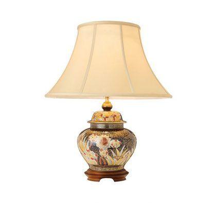 ceramiczna ręcznie malowana lampa stołowa